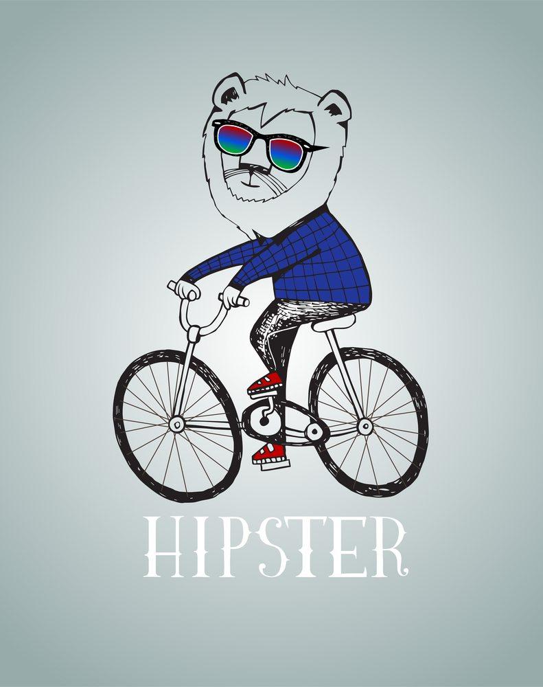 Lew na rowerze