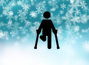 Zima atakuje– czyli nogi w gipsie